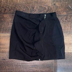 Zara Basic Side Zip/Ruffle Skirt